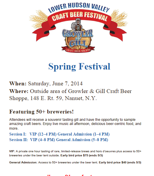 Sping fest flyer paint