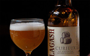 Allagash Curieux and glass