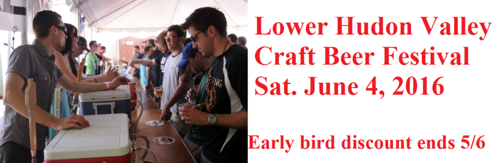 Lower Hudson Valley Beer Fest Sat 6/4